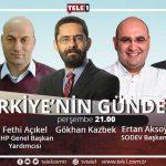 Türkiye'nin Gündemi, bu akşam 21.00'de TELE1'de!
