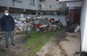 Tamir ettiği motosikleti çalıştırınca iş yeri yandı