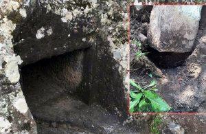 4 bin yıllık kaya mezarları matkap ve kazmalarla talan ettiler