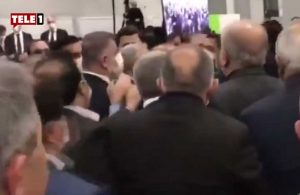 İBB Meclisi'nde AKP'li ve CHP'li Meclis üyeleri arasında arbede!