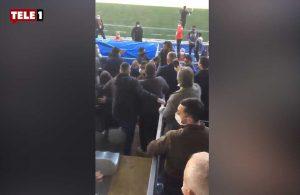 'Seyircisiz' maçta Sakaryaspor yedek kulübesine saldırı!