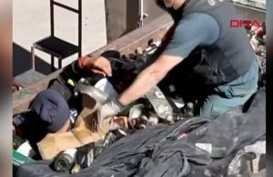 Cam şişe dolu konteynerden 41 göçmen çıktı!