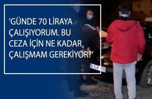 Yasakta sokağa çıktığı için hakkında cezai işlem yapılan gencin polislere sorduğu soru yürekleri parçaladı