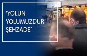Çakarlı araçla seyahat eden 2. Abdülhamit'in torunu, sloganlarla karşılandı!