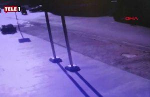 Ümraniye'de kazada motosikletteki kişi öldü; kaza anı kamerada