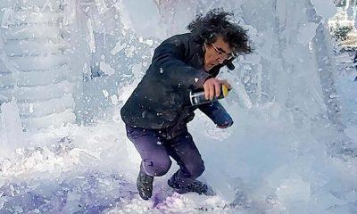 'Kadına yönelik şiddete tepki' konulu çalışma yapan dekan, üzerine düşen buz parçalarıyla yaralandı