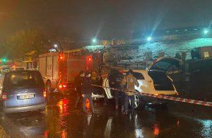 Ataşehir'de cip ile minibüs kafa kafaya çarpıştı