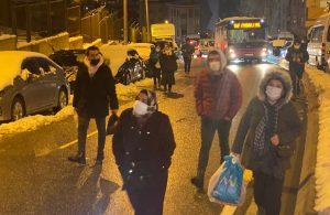 Maltepe'de arıza yapan TIR yolda kaldı trafik felç oldu