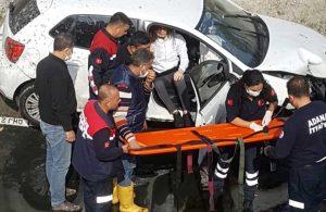 Adana'da otomobil kanala uçtu: Sürücü yaralandı