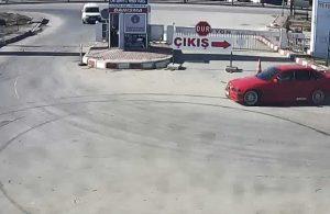 Kısıtlamayı ihlal ederek drift yapan sürücüye 7 bin lira para cezası