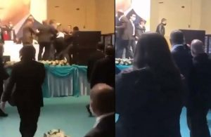 AKP'liler kongrede tekme tokat birbirlerine girdi