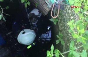 Su kuyusuna düşen kedi kurtarıldı