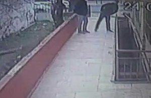 Güvenlik kamerasını fark eden hırsızlar binaya böyle girdi
