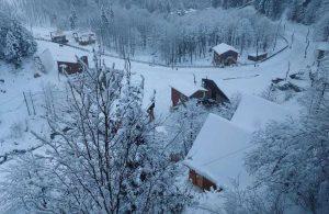Ayder Yaylası'ndaki kar manzarası böyle görüntülendi
