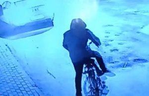 'Bisiklet hırsızı' kameralara yakalandı