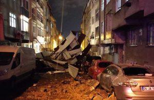 İstanbul'u fırtına vurdu, çatılar uçtu ağaçlar devrildi