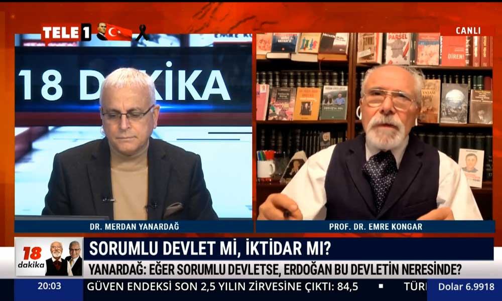 Emre Kongar: Erdoğan kendi kurduğu 'şahsım' devleti düzenini içselleştirememiş