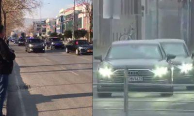 Erdoğan'ın ve Merkel'in konvoyu. Fark burada: 104'e 2!