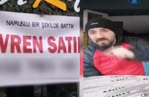 'Namuslu bir şekilde battık' pankartı açan Trabzonlu esnaf: Lebalep batırdınız bizi