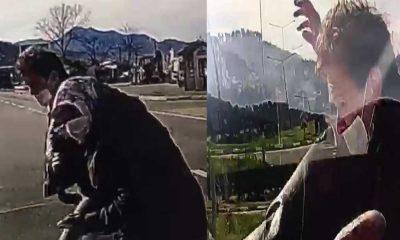 Giresun'da araç, yolun karşısına geçmeye çalışan 2 kişiye çarptı: O anlar saniye saniye kaydedildi