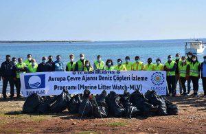 Didim'de kıyılar temizlenmeye devam ediyor