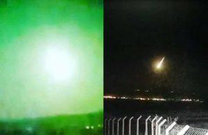 Birçok şehirden görüldü… Türkiye'ye göktaşı düştü