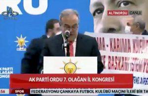 AKP'li başkana kongrede 'pankart' şoku