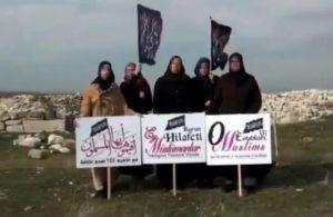 Hizb-ut Tahrir propagandası yapan bir grup kadın gözaltına alındı