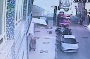 İzmir'de fırtına: Caminin minaresinden beton parçaları düştü