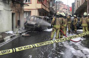 Kağıthane'de panik anları: Otomobil, doğalgaz kutusuna çarptı