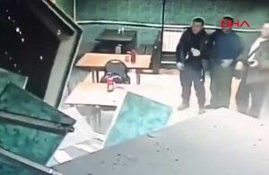 El frenini çekmeyi unuttuğu kamyon kafeye daldı