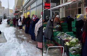 İşte vatandaşın gündemi… Kar altında çürük ama ucuz gıda kuyruğu