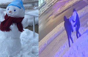 """İzmit'te 'kardan kadını' çaldılar: """"Türkiye'de, kardan da olsa kadın olmak çok zor"""""""