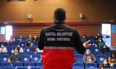 Kartal Belediyesi'nden ilçedeki kurum çalışanlarına afet bilinci eğitimi