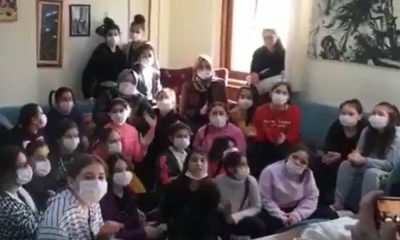Erdoğan'ın doğum günü için çocuklara Kasımpaşa şarkısı okutuldu