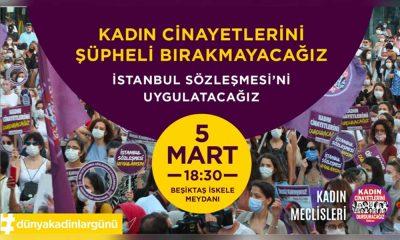 Kadınlardan 8 Mart çağrısı: Kadın cinayetlerini şüpheli bırakmayacağız, İstanbul Sözleşmesi'ni uygulatacağız