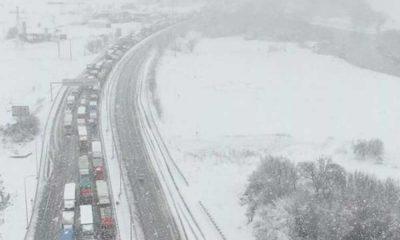 Tipi karayolunu vurdu… 25 km'lik trafik