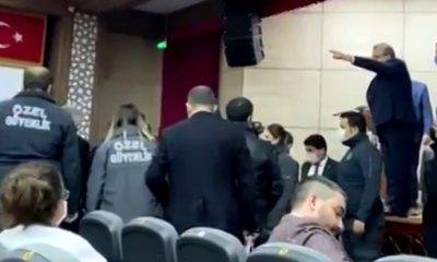 AKP'li başkan Boğaziçi direnişine selam gönderen CHP'li üyeyi salondan kovdu ortalık karıştı