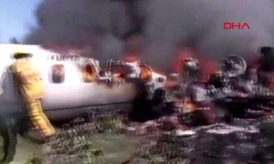 Meksika'da uçak düştü: 6 asker hayatını kaybetti