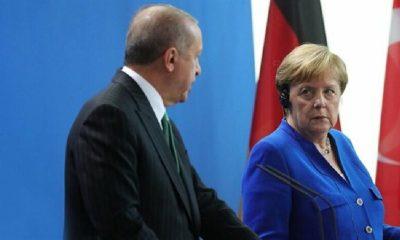 AKP'li Cumhurbaşkanı Erdoğan, Almanya Başbakanı Merkel ile görüştü