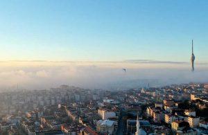 İstanbul'da etkili olan yoğun sis havadan görüntülendi