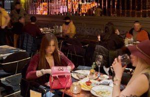 Teşvikiye'deki bir restorana koronavirüs baskını