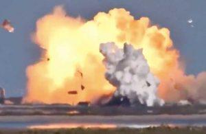 SpaceX roketi iniş sırasında patladı