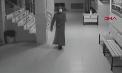 Kadın kıyafeti giyerek okula giren hırsızlar yakalandı
