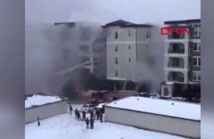 5 katlı apartmanda yangın: Tahliye anları böyle görüntülendi