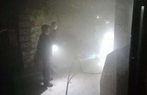 Silivri'de depo olarak kullanılan dairede yangın