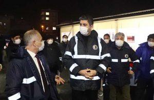 Başkan Gökhan Yüksel, karla mücadele ekiplerinin yoğun mesaisine katıldı