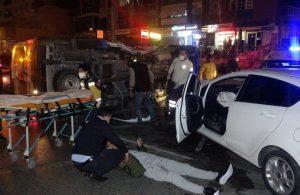 Otomobille çarpışan ambulans devrildi: 1 yaralı