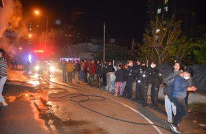 Mobilya atölyesinde çıkan yangın mahalleliyi sokağa döktü