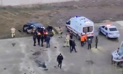 Tuzla'da kontrolden çıkan otomobil uçurumdan yuvarlandı
